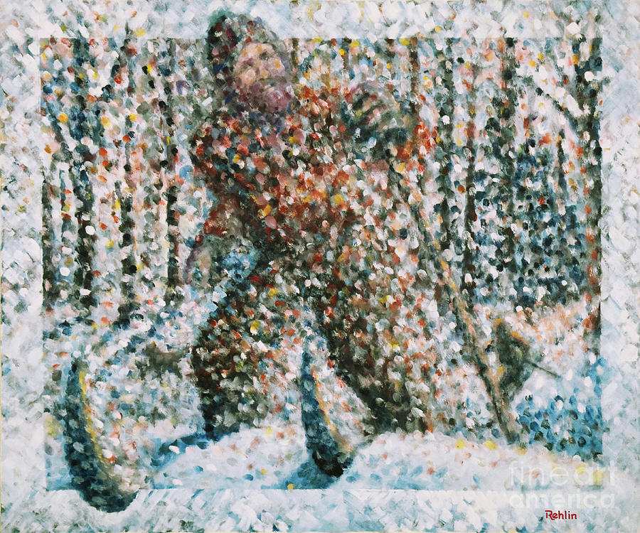 Landscape Painting - Winterwoods by Jim Rehlin
