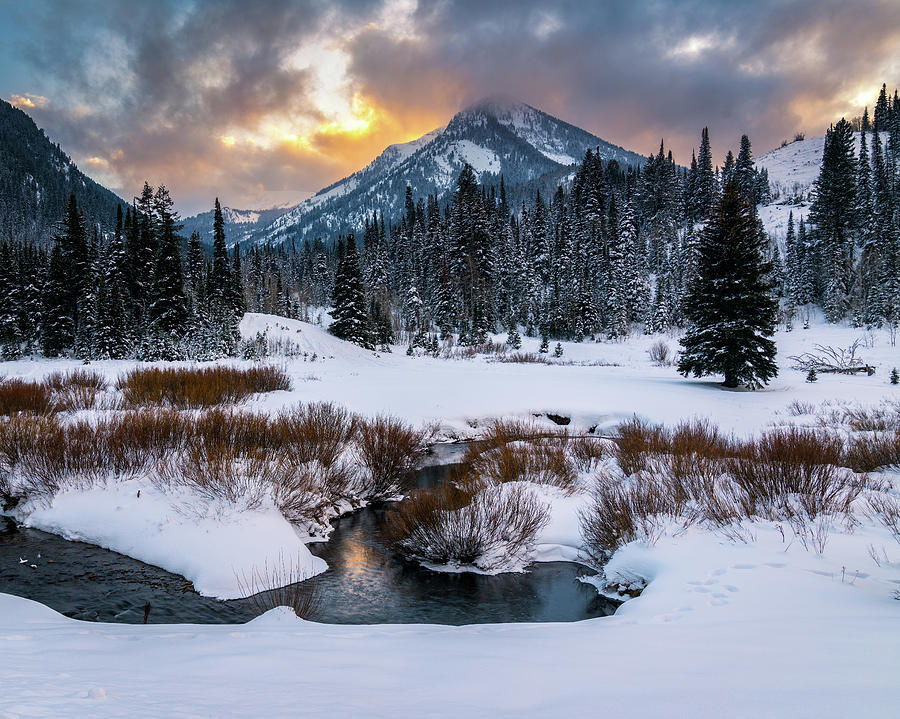 Utah Photograph - Wintery Wasatch Sunset by James Udall