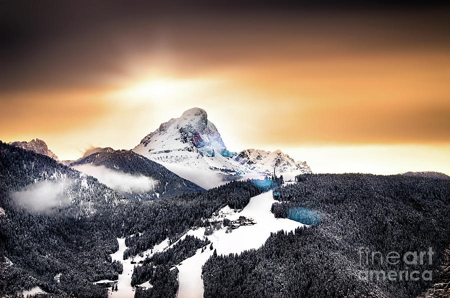 Wintry Photograph - Wintry Sunset by Alessandro Giorgi Art Photography