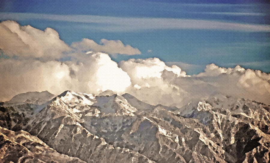 Rocky Mountains Photograph - Wintry Wasatch Range by Steve Ohlsen