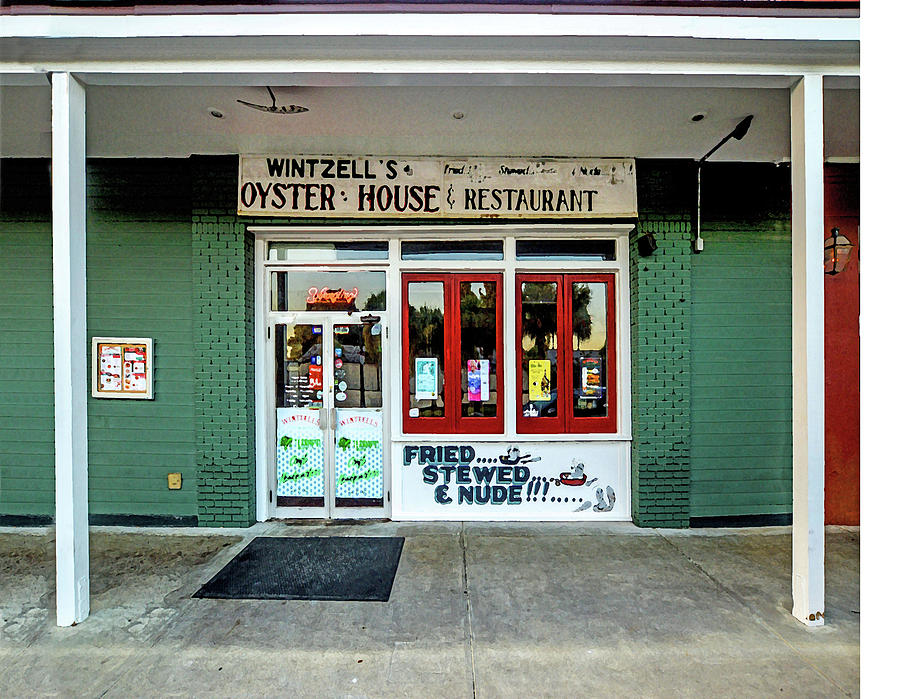 Mobile Digital Art - Wintzells Front Door In Mobile Alabama by Michael Thomas