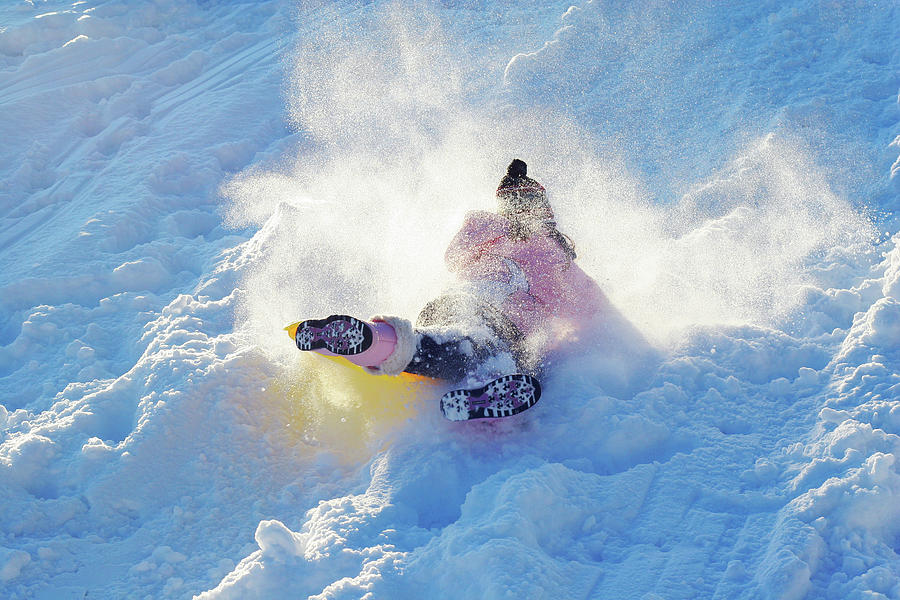Snow Photograph - Wipe Out by Randy Steele