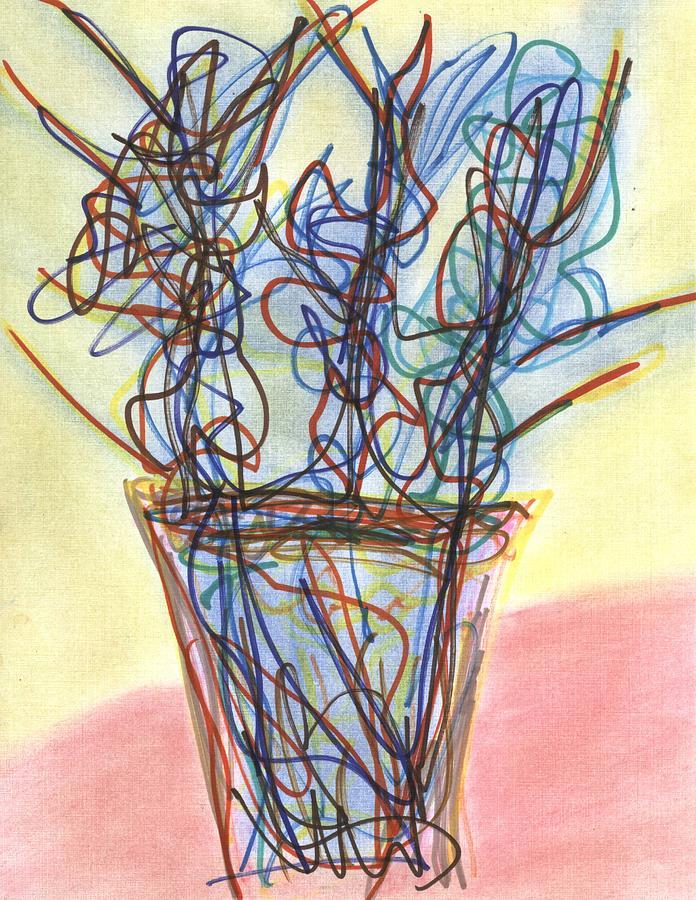 David Jacobi Drawing - Wire Flowers by David Jacobi