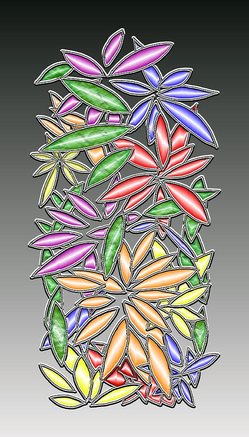 Abstract Digital Art - Wire Flowers by Mark Sellers