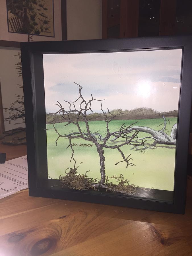 Wire Tree in Shadowbox by Dale Yarmuth