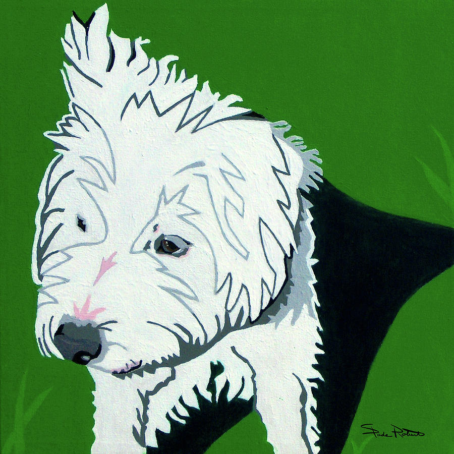 Jack Russell Painting - Wirehaired Jack Russell Terrier by Slade Roberts