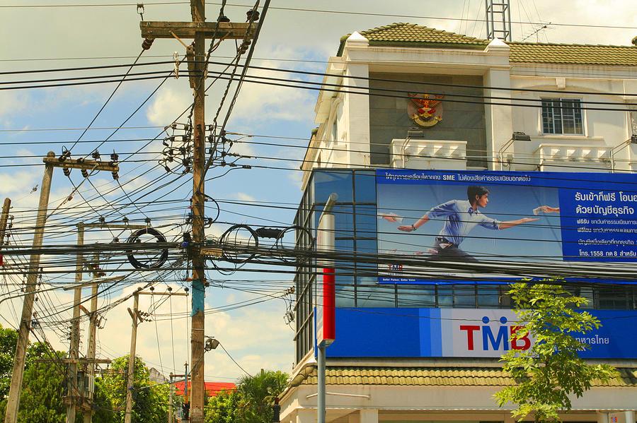 Thailand Photograph - Wires 20 by David Wenman