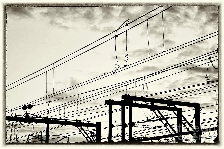 Monochrome Photograph - Wires And Coils Silhouette by Kaye Menner