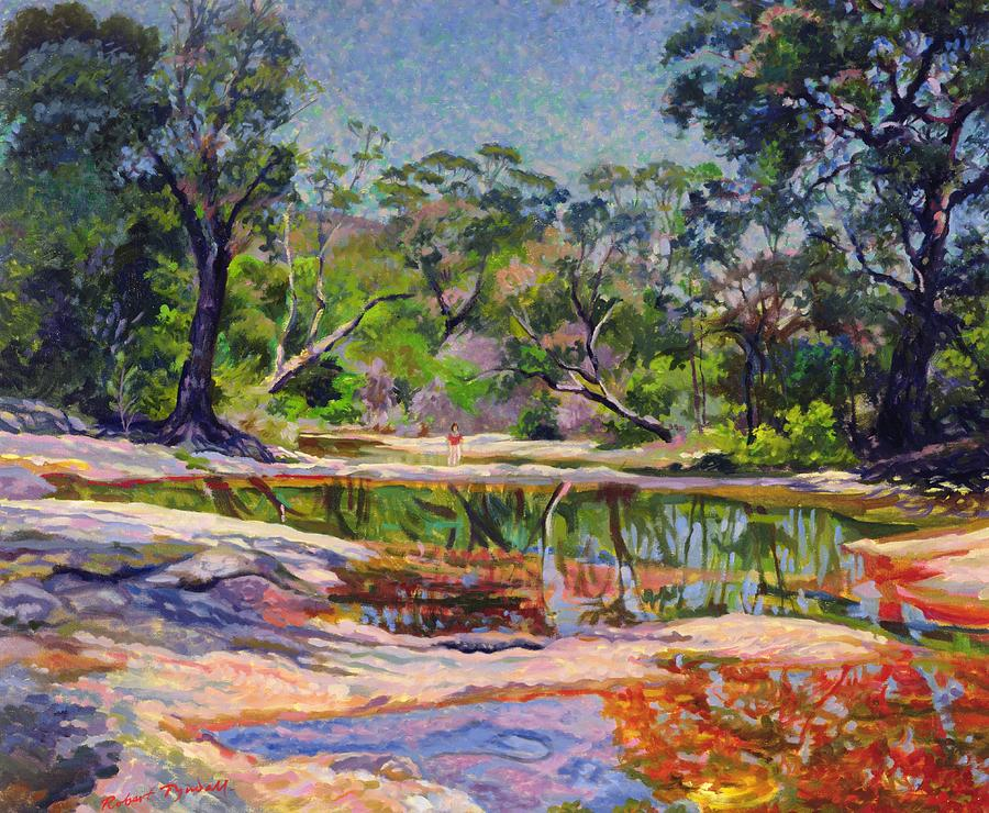 Wirreanda creek new south wales australia painting by for Australian mural artists