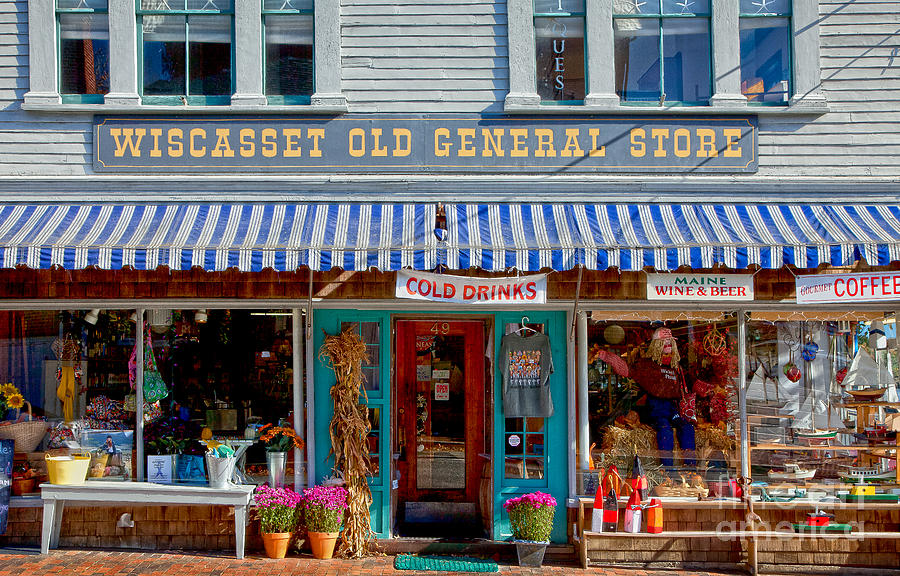 Autumn Photograph - Wiscasset General by Susan Cole Kelly