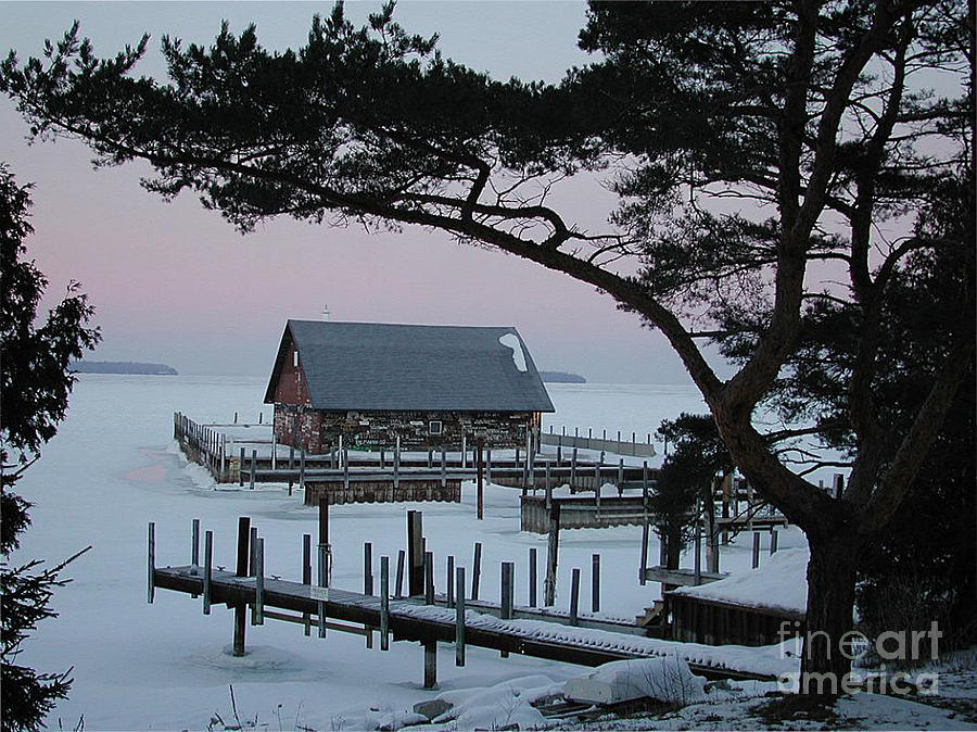 Boathouse Photograph - Wisconsin Boathouse by Jim Wright