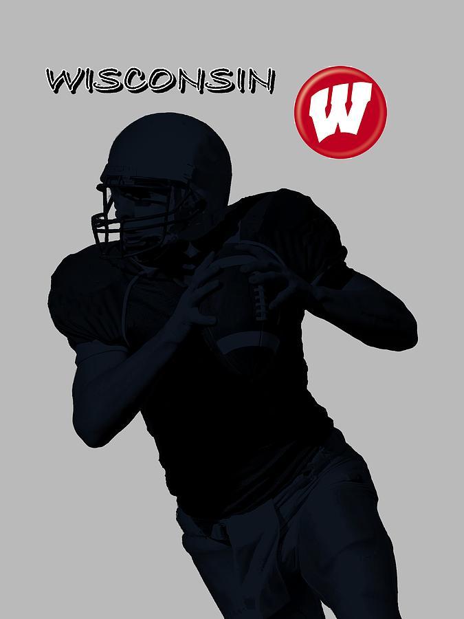 Wisconsin Football Digital Art by David Dehner