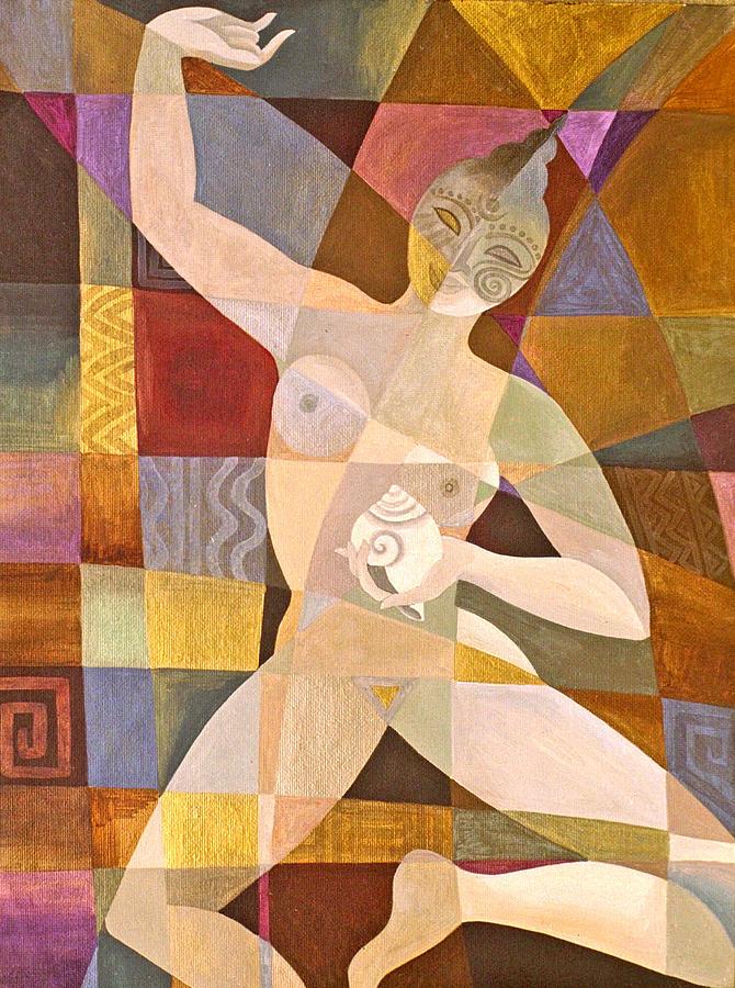 Female Form Painting - Wisdom Dakini by Jennifer Baird
