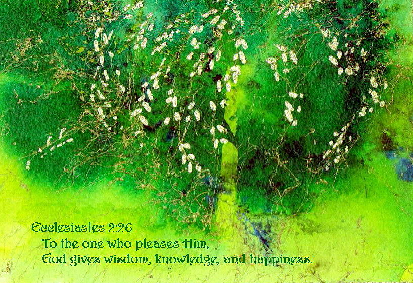 Inspirational Greeting Card Painting - Wisdom Knowledge And Happiness by Anne Duke