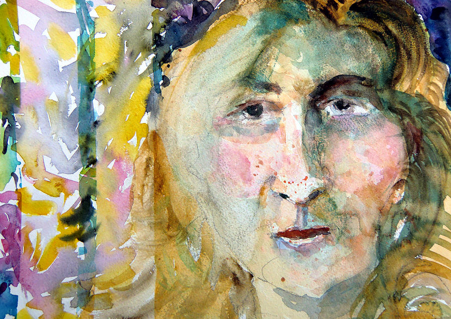 Portrait Painting - Wisdom by Mindy Newman