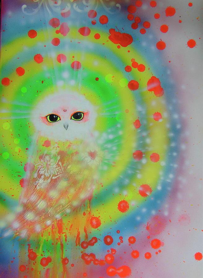 Owl Painting - Wisdom Of  The Owl  by Nino Gabashvili
