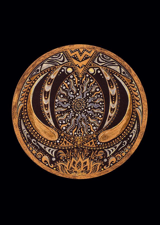 Mandala Drawing - Wisdom by Pam Ellis