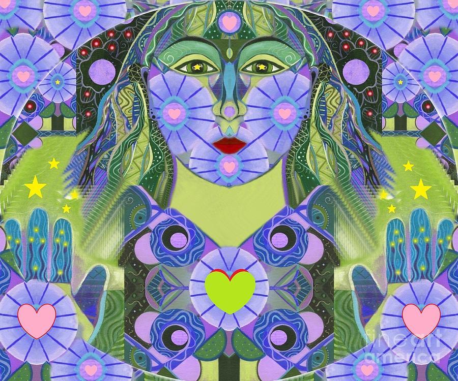 Wisdom Digital Art - Wisdom Rising by Helena Tiainen