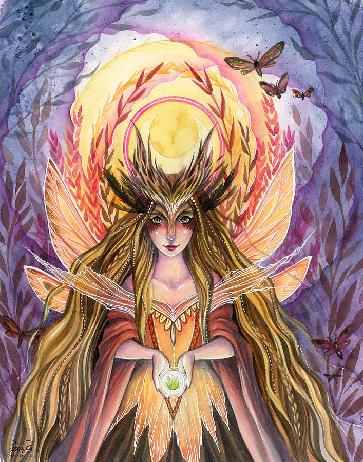 Fairy Painting - Wisdom by Sara Burrier