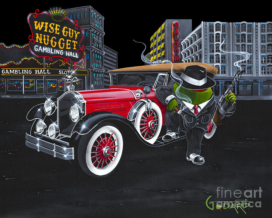 Timeless Painting - Wise Guy by Michael Godard