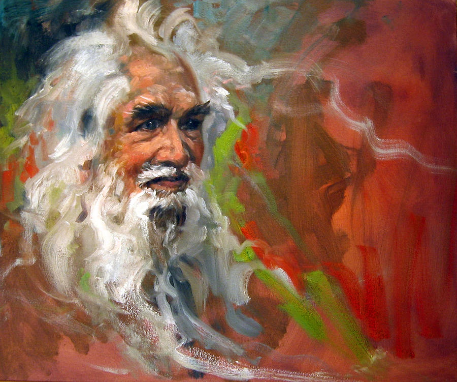 Portrait Painting - Wise Old Man by Andrew Judd