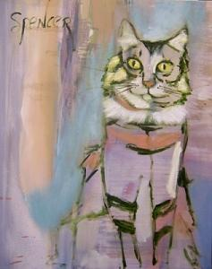 Cat Painting - Wise One by Scott Spencer