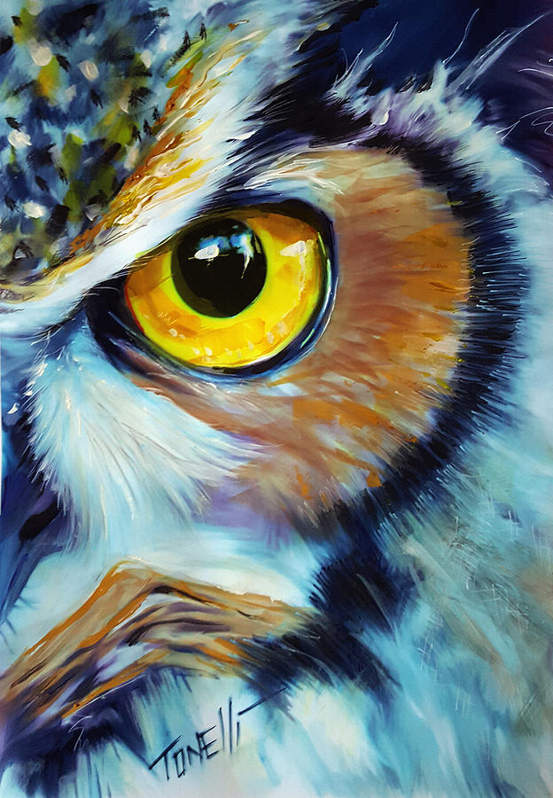 Owls, Wise Owl. Mixed Media