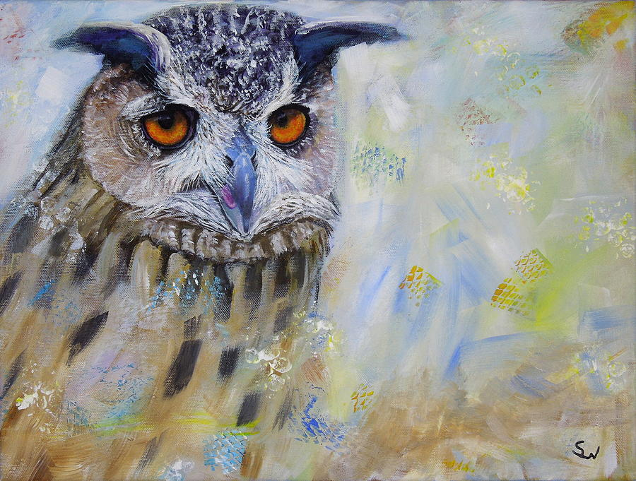 Wise Owl by Shirley Wellstead