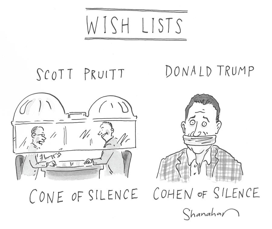 Wish Lists Drawing by Danny Shanahan