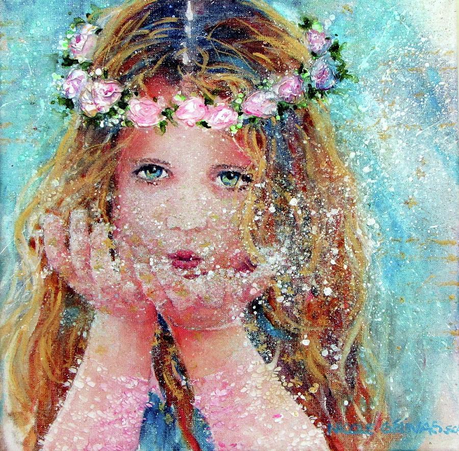 Fairy Painting - Wish by Nicole Gelinas