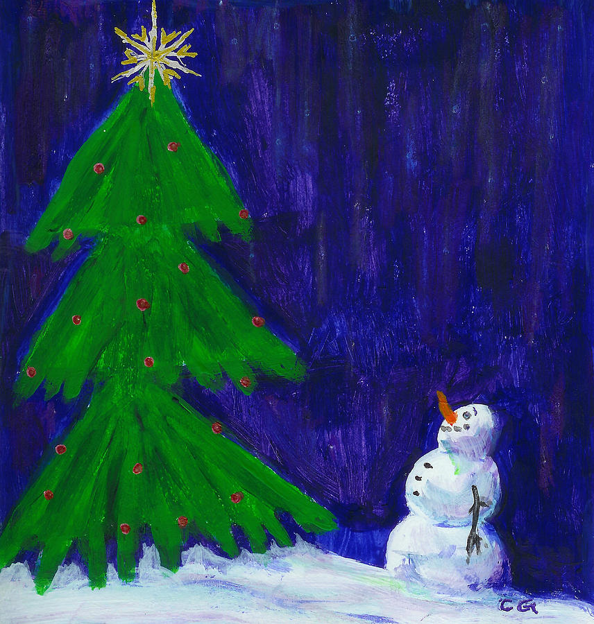 Christmas Painting - Wish Upon A Star by BlondeRoots Productions