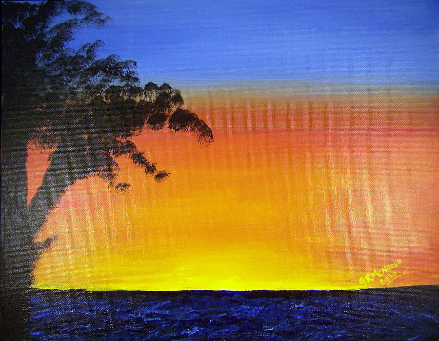 Landscape Painting - Wish You Were Here by Georgie McNeese