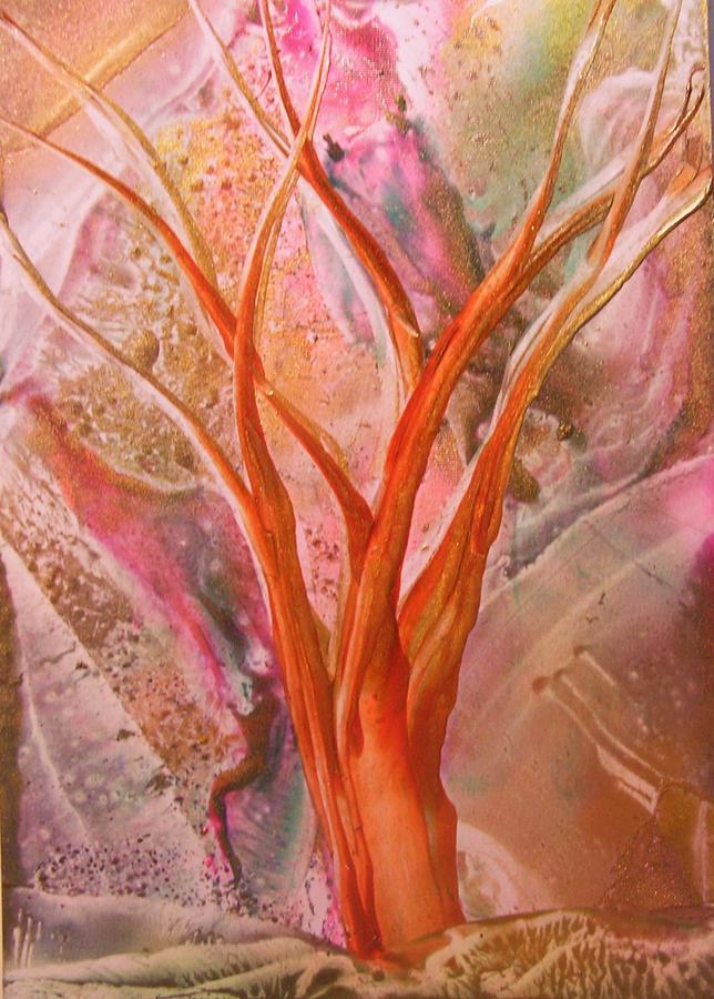 Tree Painting - Wishing Tree by John Vandebrooke