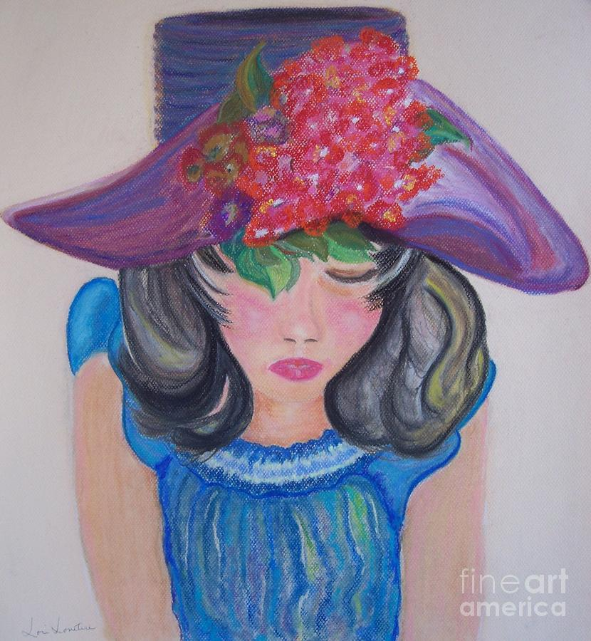Girl Painting - Wishing You Were Here by Lori  Lovetere