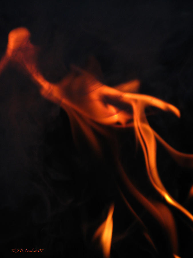 Fire Photograph - Wisp by J P Lambert