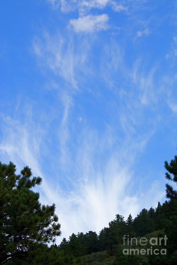 Wispy Clouds On Pikes Peak Photograph