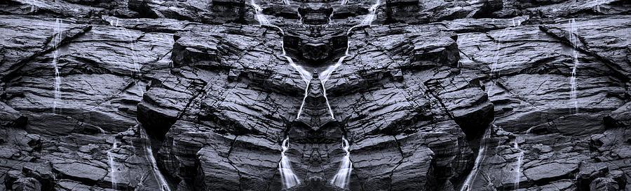 Wispy Waterfalls Digital Art