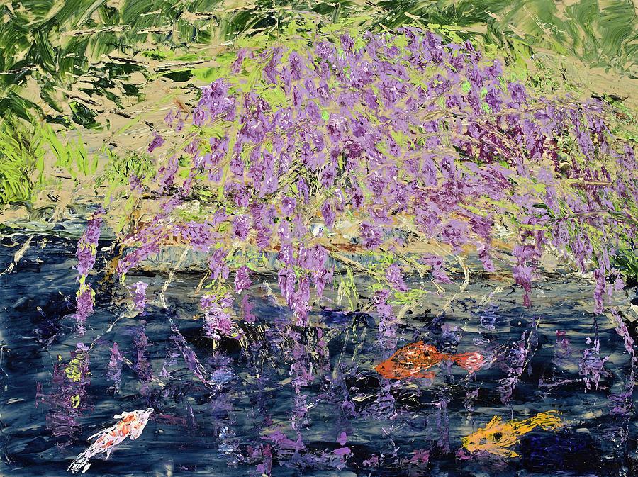 Wisteria and Koi Spring in Zilker Gardens by Julene Franki