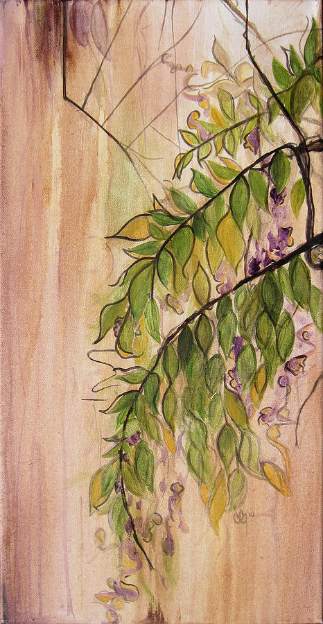 Wisteria Painting - Wisteria  by Carrie Jackson