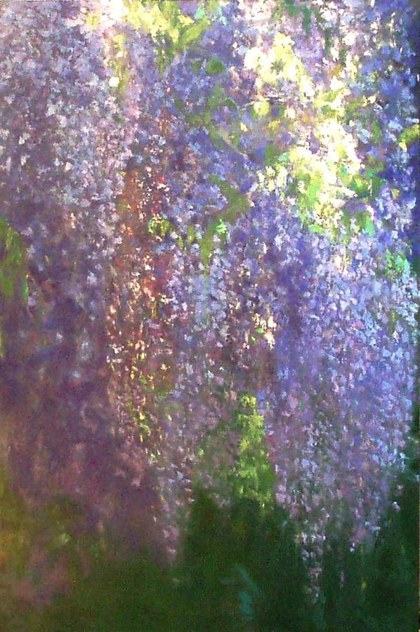 Landscape Painting - Wisteria by Krystyna Suchwallo