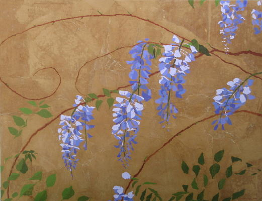 Contemporary Painting - Wisteria by Leah  Tomaino
