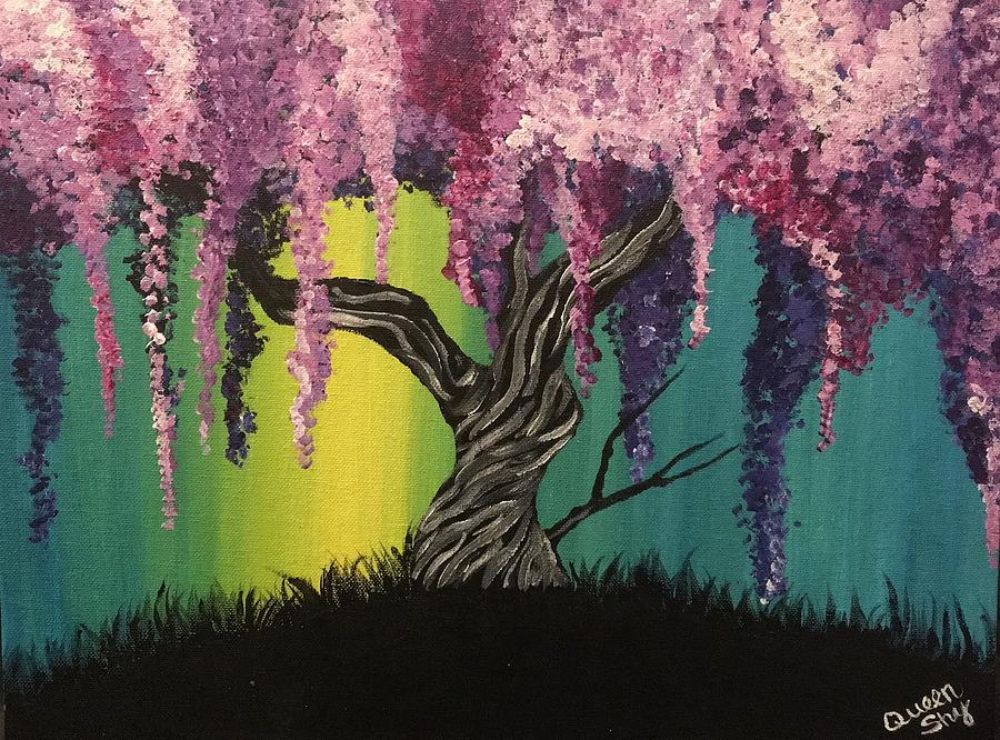 Wisteria Tree Painting By Queen Gardner