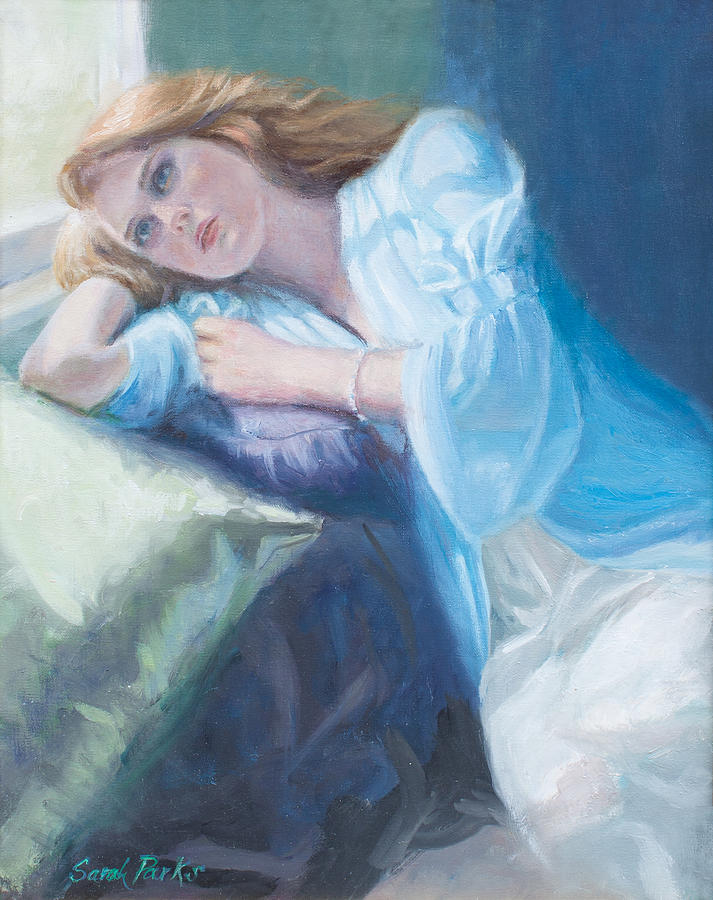 Girl Painting - Wistful by Sarah Parks