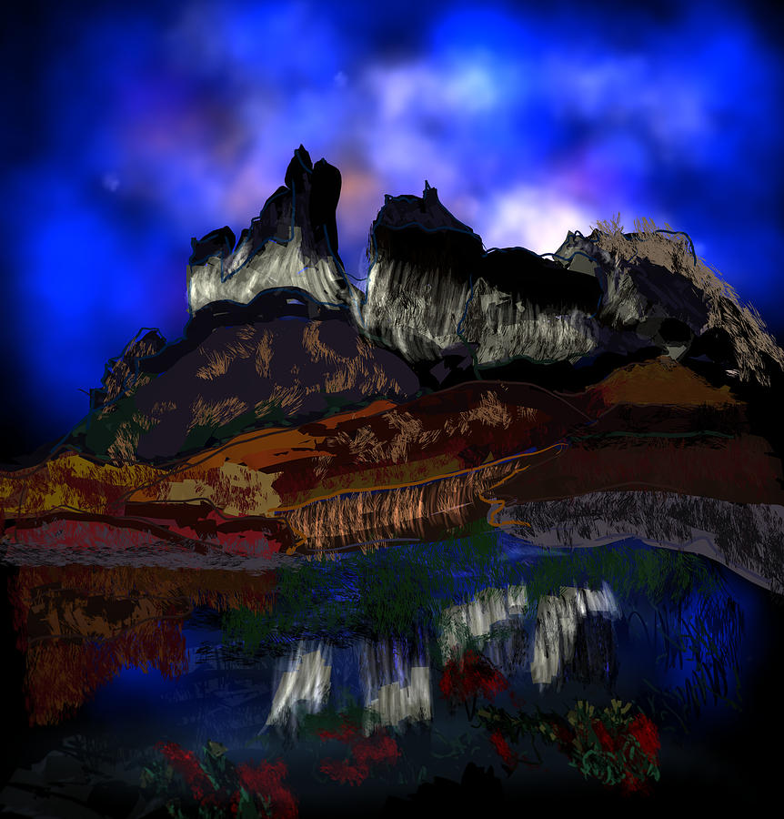 Mountain Digital Art - Witch Mountain by Kab