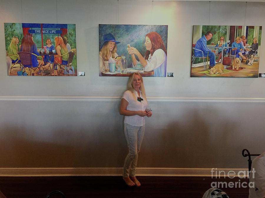With 3 paintings by AnnaJo Vahle