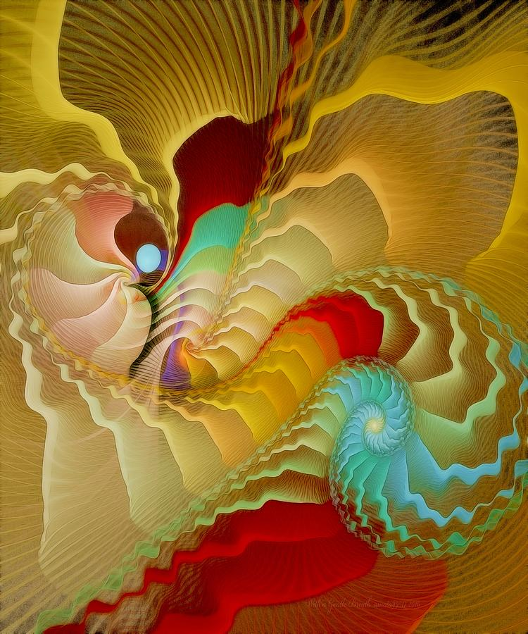 Fractal Digital Art - With A Gentle Breath by Gayle Odsather