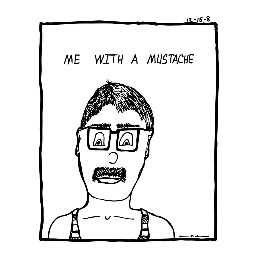 Drawing Drawing - With A Mustache by Karl Addison