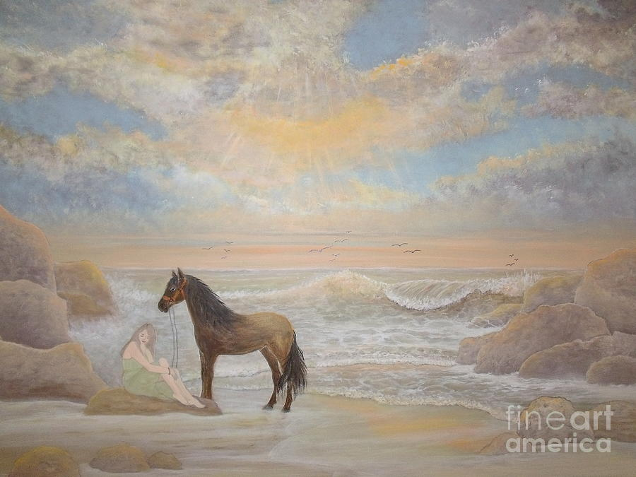Horse Painting - With A Song In My Heart by Patti Lennox
