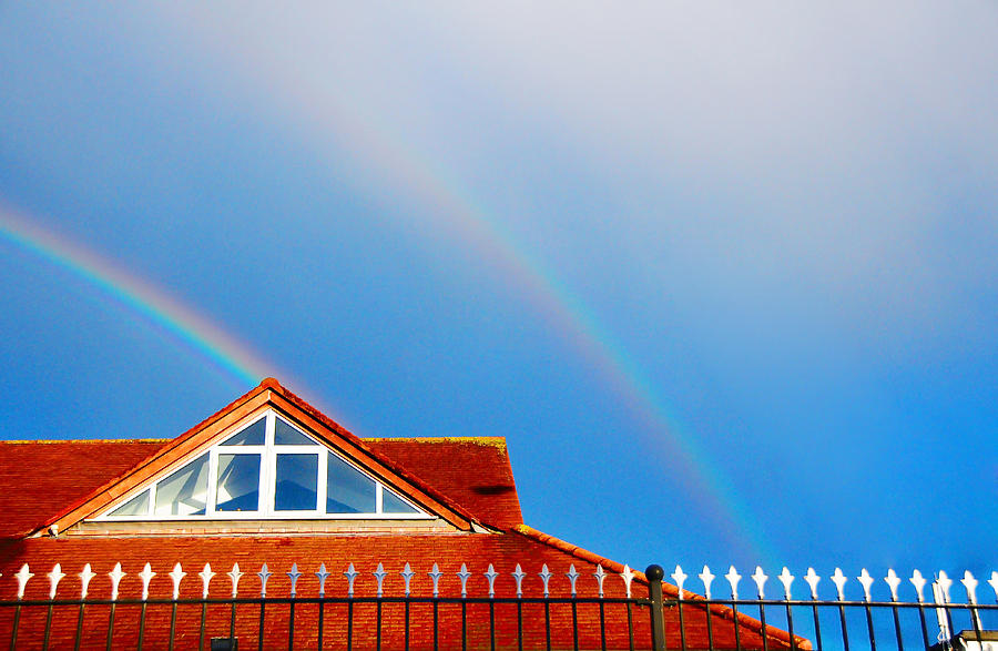 Rainbow Photograph - With Double Bless Of Rainbow by Jenny Rainbow