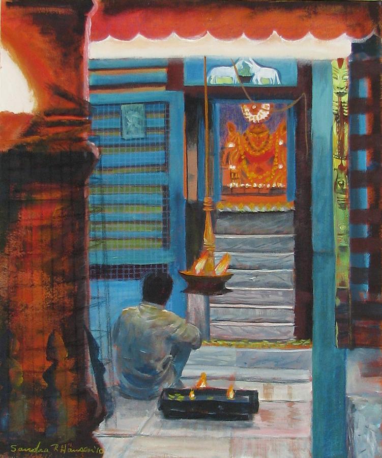 Art Nomad Painting - With God by Art Nomad Sandra  Hansen